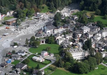 Bergsturz bei Bondo