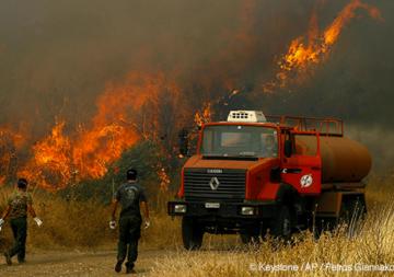 Waldbrände in Griechenland und anderen Ländern Europas